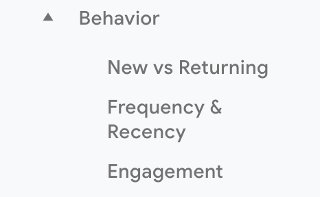 Frequency & Recency in Google Analytics