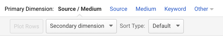 google analytics primary and secondary dimensions